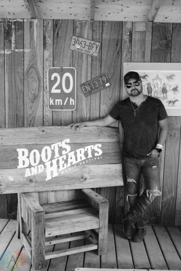 ORO-MEDONTE, ON - AUGUST 11: Aaron Goodvin poses for a portrait at Boots And Hearts Music Festival at Burl's Creek in Oro-Medonte, ON on August 11, 2018. (Photo: Curtis Sindrey/Aesthetic Magazine)