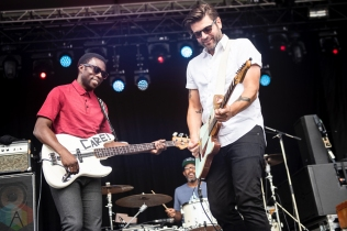 ELORA, ON - AUGUST 19: Bedouin Soundclash performs at Riverfest Elora in Elora, Ontario on August 19, 2018. (Photo: Morgan Harris/Aesthetic Magazine)