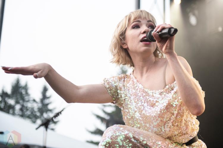 ELORA, ON - AUGUST 18: Carly Rae Jepsen performs at Riverfest Elora in Elora, Ontario on August 18, 2018. (Photo: Morgan Harris/Aesthetic Magazine)