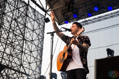 TORONTO, ON - AUGUST 14: Dashboard Confessional performs at Echo Beach in Toronto on August 14, 2018. (Photo: Brandon Newfield/Aesthetic Magazine)