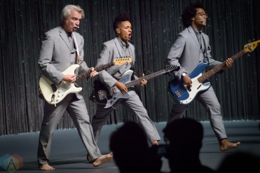TORONTO, ON - AUGUST 03: David Byrne performs at Sony Centre in Toronto on August 03, 2018. (Photo: Andrei Chlytchkov/Aesthetic Magazine)