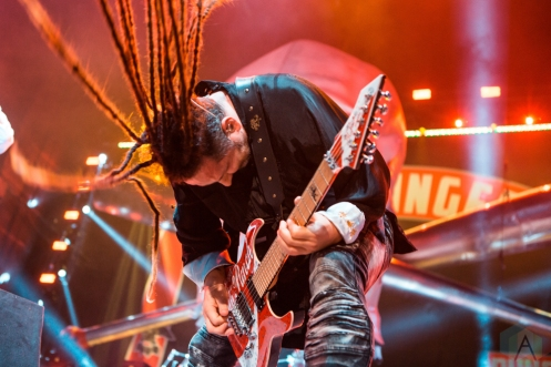 TORONTO, ON - AUGUST 20: Five Finger Death Punch performs at Budweiser Stage in Toronto on August 20, 2018. (Photo: Katrina Lat/Aesthetic Magazine)