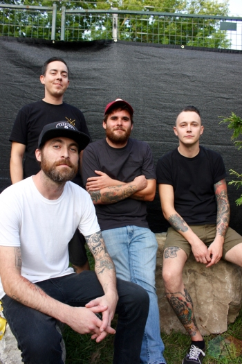ELORA, ON - AUGUST 19: The Flatliners pose for a portrait at Riverfest Elora in Elora, Ontario on August 19, 2018. (Photo: Curtis Sindrey/Aesthetic Magazine)