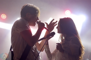 ELORA, ON - AUGUST 17: July Talk performs at Riverfest Elora in Elora, Ontario on August 17, 2018. (Photo: Curtis Sindrey/Aesthetic Magazine)