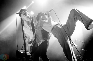 ELORA, ON - AUGUST 17: July Talk performs at Riverfest Elora in Elora, Ontario on August 17, 2018. (Photo: Morgan Harris/Aesthetic Magazine)