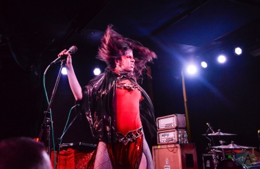 BROOKLYN, NY - AUGUST 23: Le Butcherettes performs at Knitting Factory in Brooklyn, New York on August 23, 2018. (Photo: Alex Bear/Aesthetic Magazine)