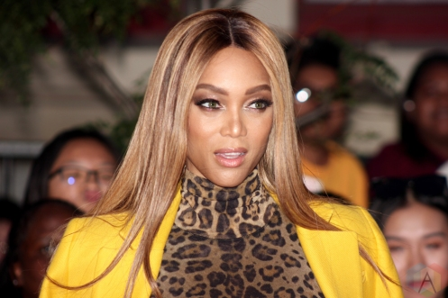 TORONTO, ON - AUGUST 26: Tyra Banks attends iHeartRadio MMVAs red carpet in Toronto, Ontario on August 26, 2018. (Photo: Curtis Sindrey/Aesthetic Magazine)