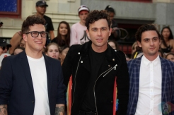 TORONTO, ON - AUGUST 26: Arkells attend iHeartRadio MMVAS red carpet in Toronto, Ontario on August 26, 2018. (Photo: Curtis Sindrey/Aesthetic Magazine)