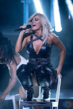 TORONTO, ON - AUGUST 26: Bebe Rexha performs at iHeartRadio MMVAs in Toronto, Ontario on August 26, 2018. (Photo: Angelo Marchini/Aesthetic Magazine)