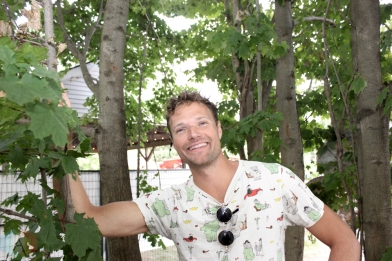 ELORA, ON - AUGUST 19: Rich Aucoin poses for a portrait at Riverfest Elora in Elora, Ontario on August 19, 2018. (Photo: Curtis Sindrey/Aesthetic Magazine)