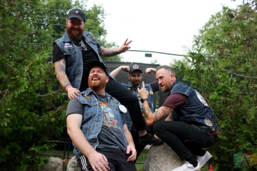 ELORA, ON - AUGUST 18: Sam Coffey And The Iron Lungs pose for a portrait at Riverfest Elora in Elora, Ontario on August 18, 2018. (Photo: Curtis Sindrey/Aesthetic Magazine)