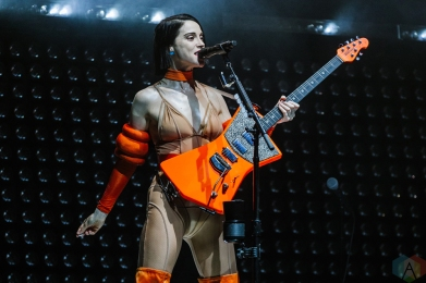 TORONTO, ON - JULY 31: St. Vincent performs at Sony Centre in Toronto on July 31, 2018. (Photo: Jenna Hum/Aesthetic Magazine)