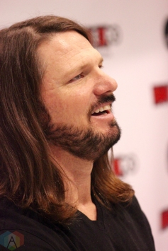 TORONTO, ON - AUGUST 30: WWE superstar AJ Styles attends Fan Expo at Metro Toronto Convention Centre in Toronto, Ontario on August 30, 2018. (Photo: Curtis Sindrey/Aesthetic Magazine)