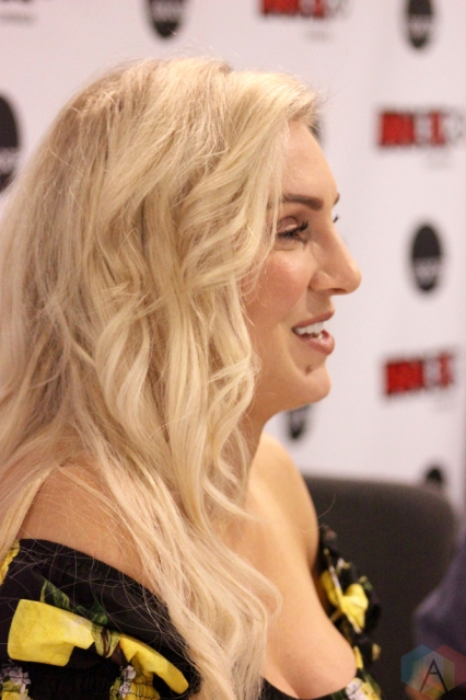 TORONTO, ON - AUGUST 30: WWE superstar Charlotte Flair attends Fan Expo at Metro Toronto Convention Centre in Toronto, Ontario on August 30, 2018. (Photo: Curtis Sindrey/Aesthetic Magazine)