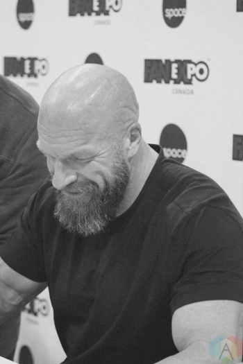 TORONTO, ON - AUGUST 30: WWE superstar Triple H attends Fan Expo at Metro Toronto Convention Centre in Toronto, Ontario on August 30, 2018. (Photo: Curtis Sindrey/Aesthetic Magazine)