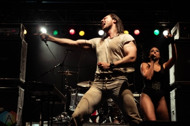 CHICAGO, IL - SEPTEMBER 15: Andrew WK performs at Riot Fest at Douglas Park in Chicago on September 15, 2018. (Photo: Katie Kuropas/Aesthetic Magazine)