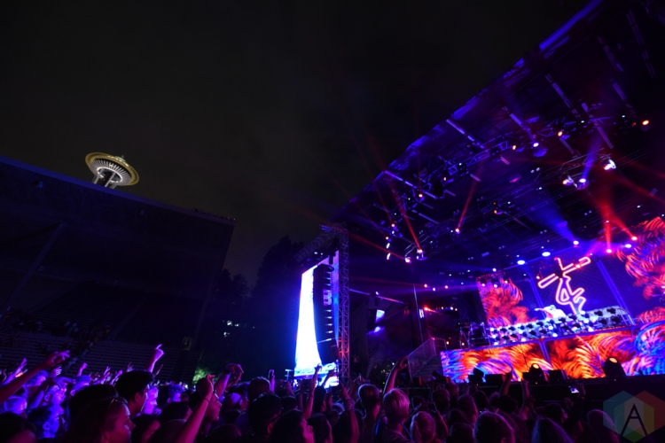 SEATTLE, WA - AUGUST 31: The Chainsmokers perform at Bumbershoot Music Festival in Seattle, Washington on August 31, 2018. (Photo: Matt Harding/Aesthetic Magazine)