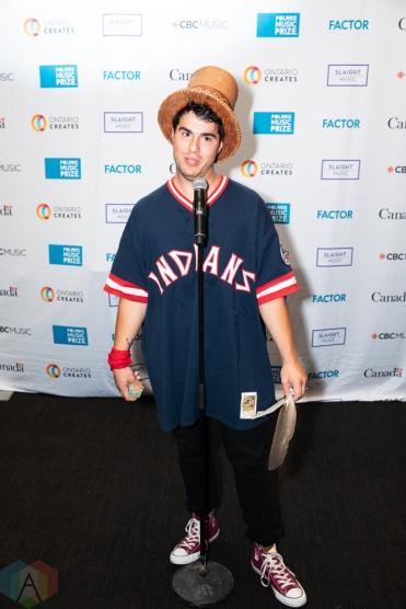 TORONTO, ON - SEPTEMBER 17: Jeremy Dutcher appears at Polaris Prize gala at the Carlu in Toronto, Ontario on September 17, 2018. (Photo: Brendan Albert/Aesthetic Magazine)