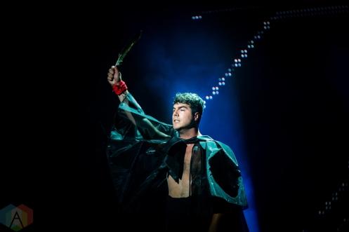 TORONTO, ON - SEPTEMBER 17: Jeremy Dutcher performs at Polaris Prize gala at the Carlu in Toronto, Ontario on September 17, 2018. (Photo: Brendan Albert/Aesthetic Magazine)