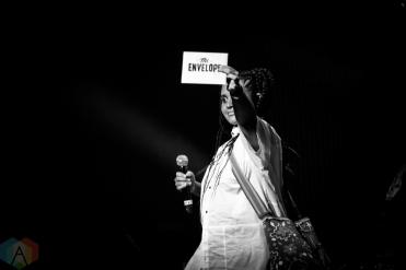 TORONTO, ON - SEPTEMBER 17: Lido Pimento appears at Polaris Prize gala at the Carlu in Toronto, Ontario on September 17, 2018. (Photo: Brendan Albert/Aesthetic Magazine)