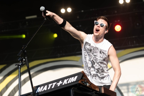 CHICAGO, IL – SEPTEMBER 14: Matt And Kim performs at Riot Fest at Douglas Park in Chicago on September 14, 2018. (Photo: Katie Kuropas/Aesthetic Magazine)