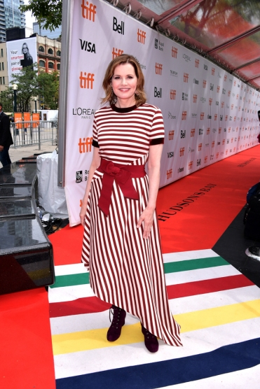 "TORONTO, ON - SEPTEMBER 08: Geena Davis attends the ""This Changes Everything"" premiere during 2018 Toronto International Film Festival at Roy Thomson Hall on September 8, 2018 in Toronto, Canada. (Photo by George Pimentel/Getty Images For TIFF )"