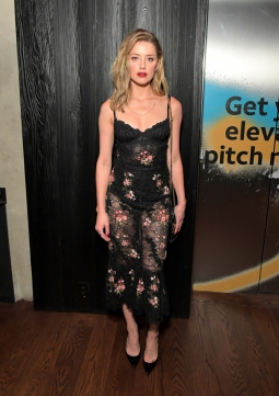 TORONTO, ON - SEPTEMBER 08: Amber Heard stops by DIRECTV House presented by AT&T during Toronto International Film Festival 2018 at Momofuku Toronto on September 8, 2018 in Toronto, Canada. (Photo by Charley Gallay/Getty Images for AT&T and DIRECTV )