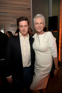 TORONTO, ON - SEPTEMBER 08: David Gordon Green (L) and Jamie Lee Curtis attend the Halloween Cocktail Party at DIRECTV House presented by AT&T during Toronto International Film Festival 2018 at Momofuku Toronto on September 8, 2018 in Toronto, Canada. (Photo by Charley Gallay/Getty Images for AT&T and DIRECTV )