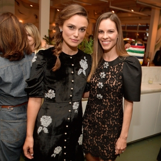 "TORONTO, ON - SEPTEMBER 10: Keira Knightley and Hilary Swank attend The Hollywood Reporter and Hudson's Bay celebration of ""Colette"" and ""What They Had"" with Bleecker Street and Elevation Pictures at TIFF on September 10, 2018 in Toronto, Canada. (Photo by Matt Winkelmeyer/Getty Images for The Hollywood Reporter) *** Local Caption *** Keira Knightley;Hilary Swank"