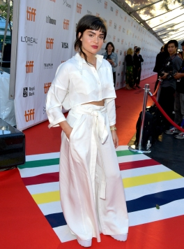 "TORONTO, ON - SEPTEMBER 13: Devery Jacobs attends the ""The Lie"" premiere during 2018 Toronto International Film Festival at Roy Thomson Hall on September 13, 2018 in Toronto, Canada. (Photo by George Pimentel/Getty Images for TIFF)"