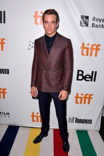 "TORONTO, ON - SEPTEMBER 06: Chris Pine attends the ""Outlaw King"" premiere during the 2018 Toronto International Film Festival at Roy Thomson Hall on September 6, 2018 in Toronto, Canada. (Photo by George Pimentel/Getty Images for TIFF)"