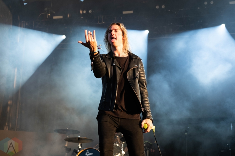 CHICAGO, IL - SEPTEMBER 16: Underoath performs at Riot Fest at Douglas Park in Chicago on September 16, 2018. (Photo: Katie Kuropas/Aesthetic Magazine)