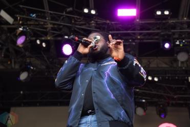 SEATTLE, WA - AUGUST 31: Xavier Omar performs at Bumbershoot Music Festival in Seattle, Washington on August 31, 2018. (Photo: Matt Harding/Aesthetic Magazine)