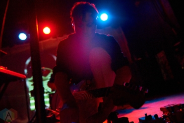 TORONTO, ON - OCTOBER 09: Django Django performs at Lee's Palace in Toronto on October 09, 2018. (Photo: Morgan Harris/Aesthetic Magazine)