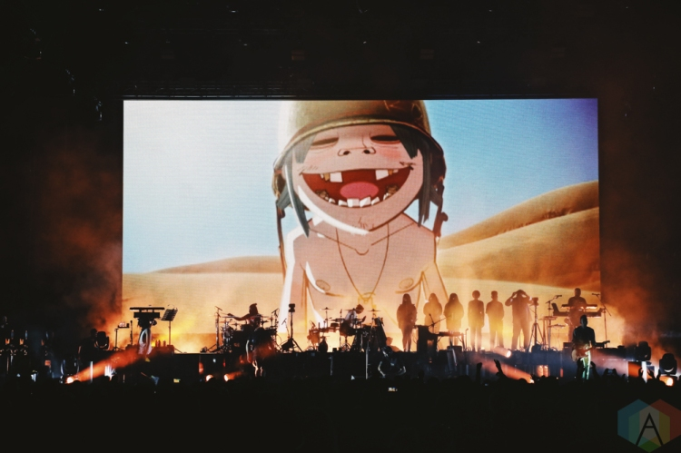 TORONTO, ON - OCTOBER 08: Gorillaz performs at Scotiabank Arena in Toronto on October 08, 2018. (Photo: Shahnoor Ijaz/Aesthetic Magazine)