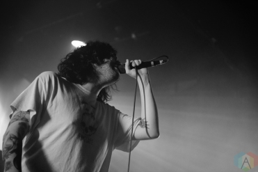 TORONTO, ON - NOVEMBER 20: Real Friends performs at The Mod Club in Toronto on November 20, 2018. (Photo: Morgan Harris/Aesthetic Magazine)