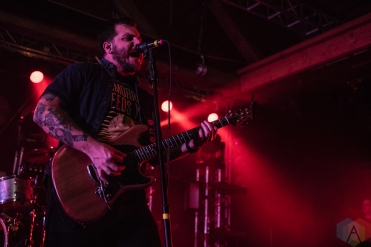 SEATTLE, WA - NOVEMBER 04: Thrice performs at Showbox SODO in Seattle on November 04, 2018. (Photo: Kevin Tosh/Aesthetic Magazine)