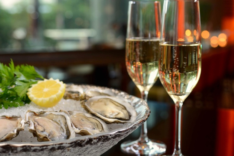 Coffee Oysters Champagne