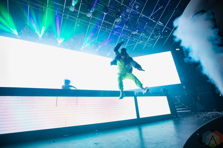 TORONTO, ON - DECEMBER 16: DVBBS performs at Rebel in Toronto on December 16, 2018. (Photo: Michael Hurcomb/Aesthetic Magazine)