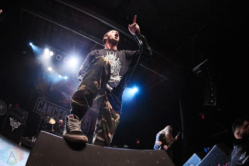 TORONTO, ON - DECEMBER 06: Cancer Bats performs at Phoenix Concert Theatre in Toronto on December 06, 2018. (Photo: Morgan Harris/Aesthetic Magazine)