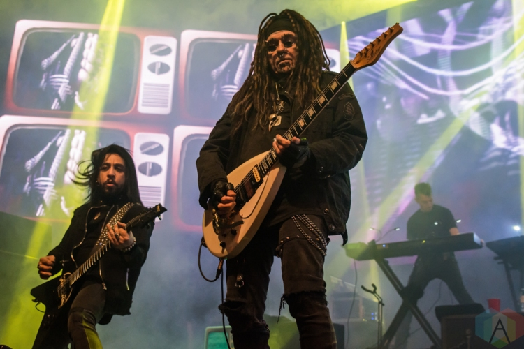 TORONTO, ON - DECEMBER 02: Ministry performs at Rebel in Toronto on December 02, 2018. (Photo: Tyler Roberts/Aesthetic Magazine)