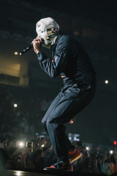 TORONTO, ON - JANUARY 11: ASAP Rocky performs at Coca-Cola Coliseum in Toronto on January 11, 2019. (Photo: Jenna Hum/Aesthetic Magazine)