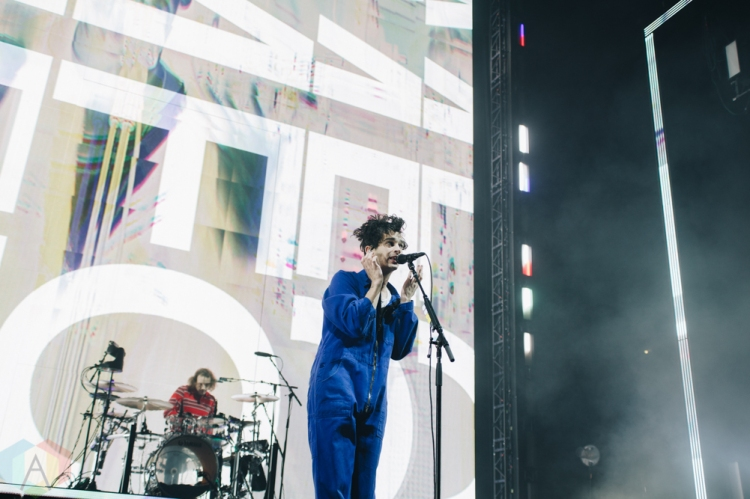 MANCHESTER, UK - JANUARY 24: The 1975 performs at Manchester Arena in Manchester, UK on January 24, 2019. (Photo: Priti Shikotra/Aesthetic Magazine)