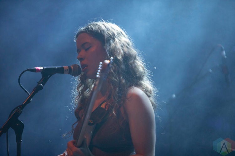 TORONTO, ON - FEBRUARY 11: Nilufer Yanya performs at Danforth Music Hall in Toronto on February 11, 2019. (Photo: Michael Hurcomb/Aesthetic Magazine)