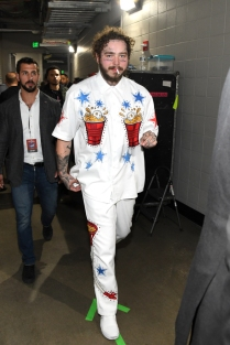 ATLANTA, GA - FEBRUARY 01: Post Malone is seen backstage at Super Bowl Music Fest at State Farm Arena on February 1, 2019 in Atlanta, Georgia. (Photo: Kevin Mazur/Getty)