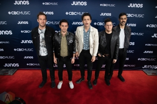LONDON, ON - MARCH 17: Arkells attend the 2019 Juno Awards red carpet at Budweiser Gardens in London, Ontario on March 17, 2019. (Photo: Brendan Albert/Aesthetic Magazine)
