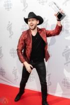 LONDON, ON - MARCH 17: Brett Kissel attends the 2019 Juno Awards red carpet at Budweiser Gardens in London, Ontario on March 17, 2019. (Photo: Brendan Albert/Aesthetic Magazine)