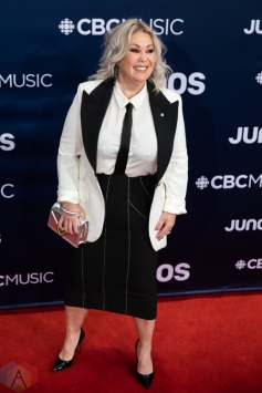 LONDON, ON - MARCH 17: Jann Arden attends the 2019 Juno Awards red carpet at Budweiser Gardens in London, Ontario on March 17, 2019. (Photo: Brendan Albert/Aesthetic Magazine)