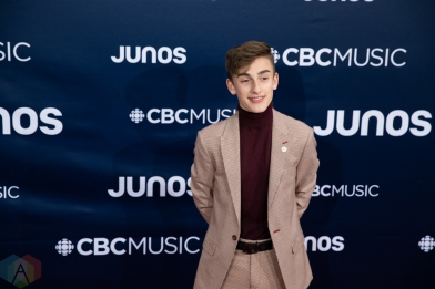 LONDON, ON - MARCH 17: Johnny Orlando attends the 2019 Juno Awards red carpet at Budweiser Gardens in London, Ontario on March 17, 2019. (Photo: Brendan Albert/Aesthetic Magazine)