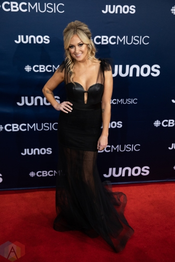 LONDON, ON - MARCH 17: Meghan Patrick attends the 2019 Juno Awards red carpet at Budweiser Gardens in London, Ontario on March 17, 2019. (Photo: Brendan Albert/Aesthetic Magazine)